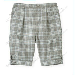 Janie and Jack Plaid Twill Shorts